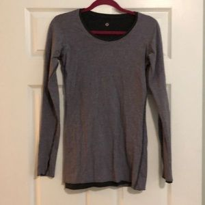 Lululemon Reversible Long Sleeved Gray Shirt
